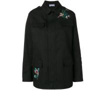 Jacke mit Blumen-Stickerei