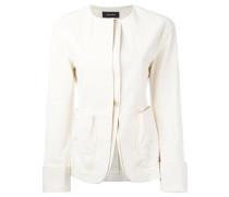 - collarless layered blazer - women