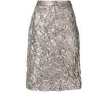 textured satin skirt