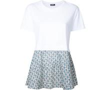 T-Shirt mit Kontrasteinsatz - women - Baumwolle