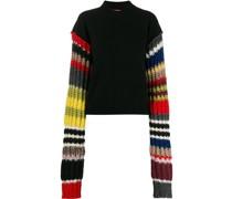 Pullover mit gestreiften Ärmeln
