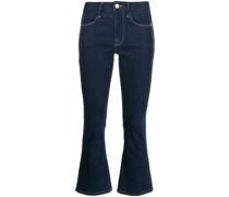 Le Crop flared cuff jeans