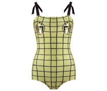 grid swimsuit