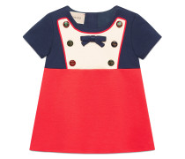 Baby jersey dress with mixed buttons