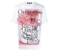 T-Shirt mit Zeitungs-Print