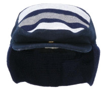 striped flat cap