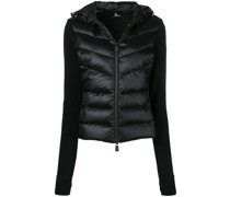 knitted sleeve puffer jacket