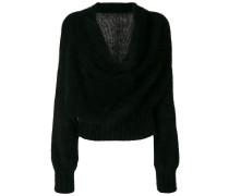 Pullover mit Wasserfallausschnitt