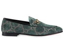 Blue Jordaan GG velvet loafers