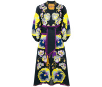 pansies embroidered dress