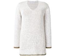 Pullover mit kontrastierendem Saum
