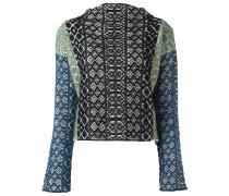 Jacquard-Pullover in Colour-Block-Optik