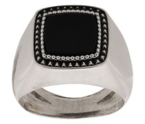 Eckiger 'Chevalier' Ring