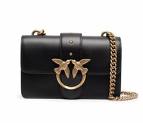 logo-plaque leather satchel bag