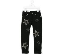 Jeans mit Sternenverzierung
