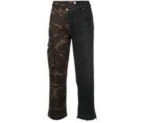 Jeans mit Patchwork-Design