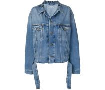 Jeansjacke mit Taillengürtel