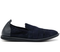 Loafer mit Lederbesatz