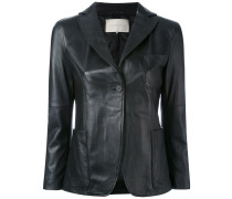 - leather blazer - women - Baumwolle/Leder - 42