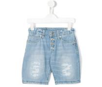 Jeansshorts mit Knopfverschluss - kids