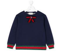 Sweatshirt mit Webstreifen