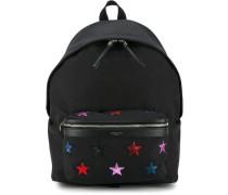 Rucksack mit aufgestickten Sternen