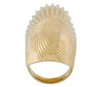 Curiosities folded leaf ring