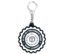 Université printed keychain - men - Kalbsleder