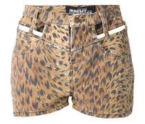 Shorts mit Leoparden-Print und Cut-Out