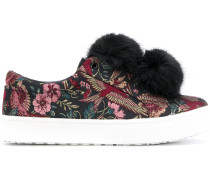 'Leya' Sneakers mit Pompons