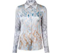 Seidenhemd mit abstraktem Print