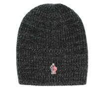 knitted logo beanie