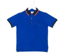 contras-trimmed polo shirt