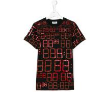 T-Shirt mit Uhrzeit-Print