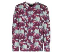 Geblümtes Sweatshirt im Vintage-Look