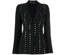 fitted studded blazer