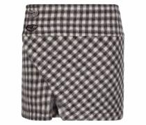 check-print mini skirt