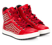 High-Top-Sneakers mit Nieten