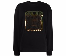 Sweatshirt mit Art-déco-Print