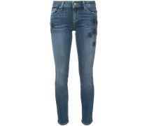 Bestickte 'Skyline Ankle' Jeans - women