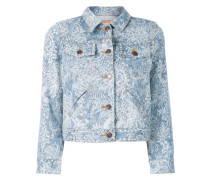 Shrunken embellished denim jacket