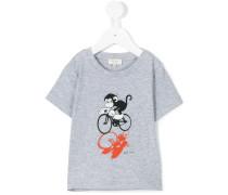 T-Shirt mit Affen-Print - kids - Baumwolle - 36
