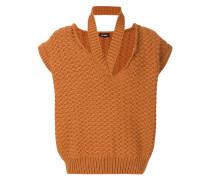 Kurzärmeliger Pullover mit Cut-Outs