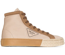 High-Top-Sneakers aus Gabardine
