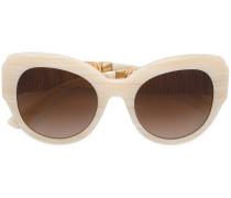 Cat-Eye-Sonnenbrille mit breitem Gestell