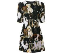 puppy print mini dress