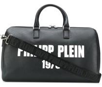 Mittelgroße Reisetasche mit Logo-Print