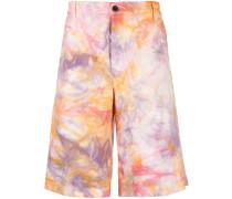 Chino-Shorts mit Batikmuster