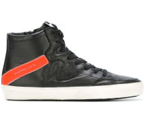 High-Top-Sneakers mit Streifenmuster