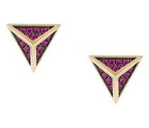 18kt 'Tetrahedron' Gelbgold-Ohrstecker mit Diamanten